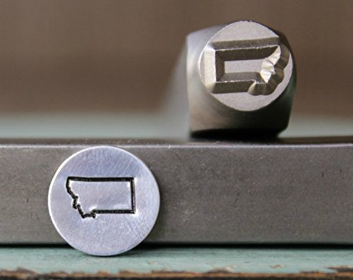8mm Montana US State Metal Punch Design Jewelry Stamp