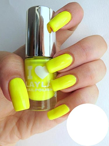 I LOVE LAYLA NAGELLACK by LAYLA - YELLOW FLUO - NEON