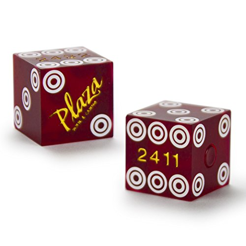 Pair (2) of Official 19mm Casino Dice Used at the Plaza Casino by - Mall Plaza Stores