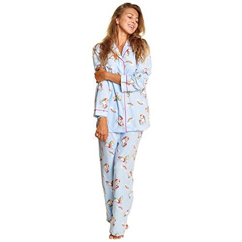 - Angelina Women's Cozy Fleece Pajama Set, Unicorn, XX-Large