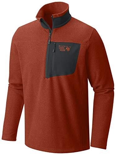 (Mountain Hardwear Toasty Twill 1/2-Zip Pullover Jacket - Men's Dark Copper, M)