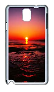 Samsung Galaxy Note 3 Case Cover - Sea Sunset Blurred Ios7 Custom PC Case for Samsung Galaxy Note 3 / Note III/ N9000 White