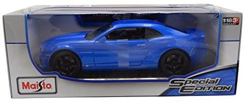 Toyota Van Models - 2010 Chevrolet Camaro SS RS Blue Special Edition 1:18 Scale Diecast Model by Maisto