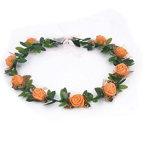 Uxcell Dame Couronne Partie De La Couronne De Cheveux Coiffe Réglable Décor De Fleur D'oranger