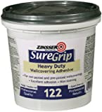 Zinsser & 69384 SureGrip 122 Wallcovering Adhesive, Clear, 1-Qt. - Quantity 6