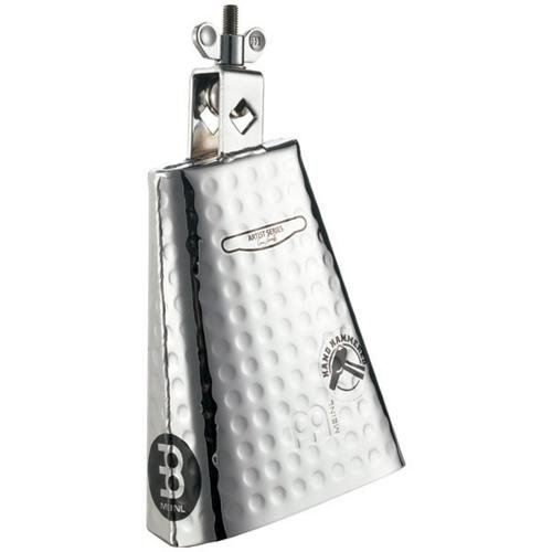 Meinl Hand Hammered Cowbell (Meinl Percussion KA625 Kenny Aronoff Signature Hand Hammered Steel Cowbell With Chrome Finish, 6 1/4-Inch)
