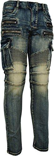 Zip Pocket Cargo Jeans - 2