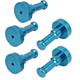 uxcell Aluminum Clothes Garment Hat Hook Decorative Wall Hanger Blue 5pcs