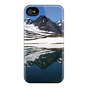 For Iphone 4/4s Premium Tpu Case Cover Tarfala Valley Sweden Protective Case