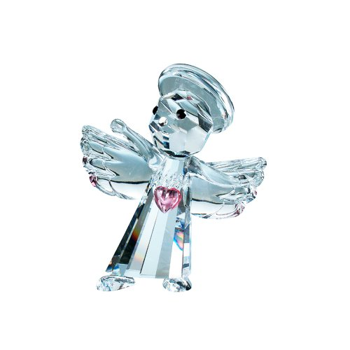 Crystal Angel with Pink Heart -