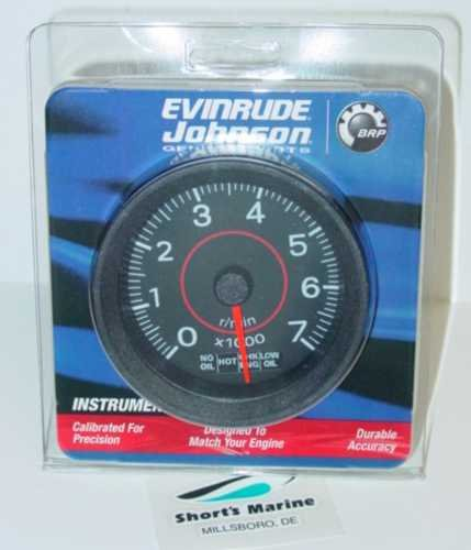 (Evinrude Johnson 3 Tach & System Check Gauge 0177107)