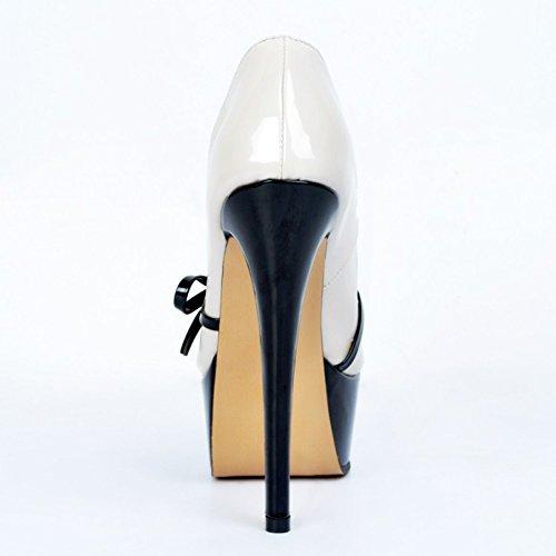 Kolnoo - Pantuflas de caña alta Mujer blanco