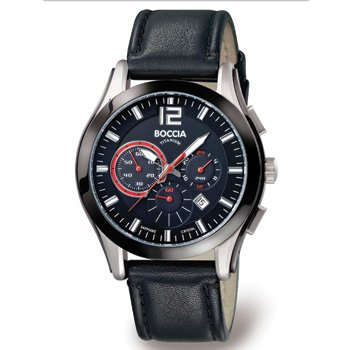 Boccia Sport 3771-01 Gents Watch with Leather Strap