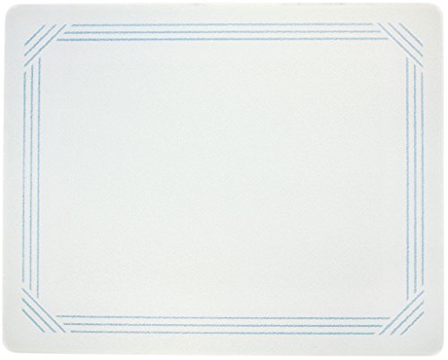 Vance 20 X 16 inch White with Blue Border Surface Saver Temp