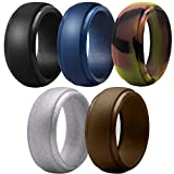 Meant2b Silicone Wedding Rings for Men- Black, Copper, Camo, Blue & Silver. Non-Toxic, Medical Grade Review