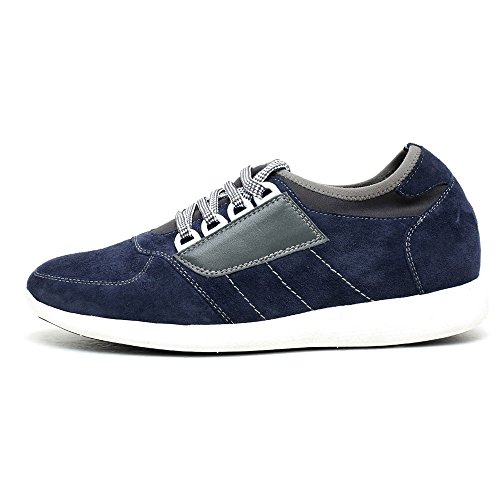 Blu Sneaker Pelle H52C11K013D da 7 cm Basket CHAMARIPA Uomo con Fino Rialzo Scarpe a A1FFOf4