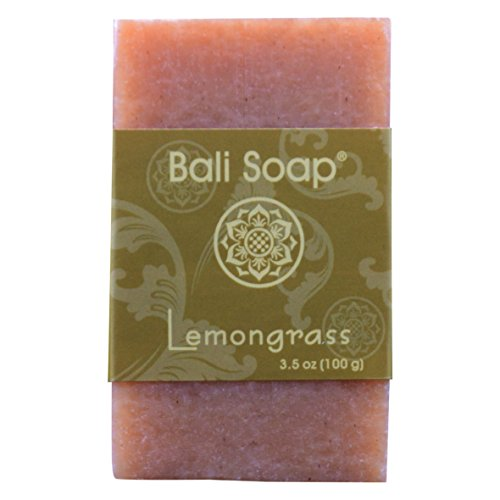 Bali Soap - Lemongrass Natural Soap Bar, Face or Body Soap, Best for All Skin Types, For Women, Men & Teens, Pack of 3, 3.5 Oz each Lemongrass Moisturizing Bar Soap