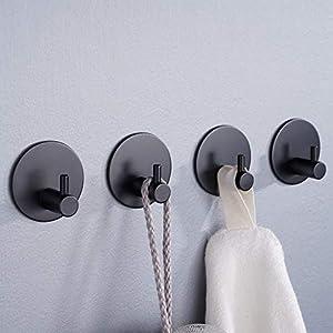 Aikzik Selbstklebend Handtuchhaken, Bademantelhaken Haken Wandhaken Edelstahl rostfrei Bad und Küche Handtuchhalter…