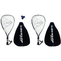 2 x Dunlop Biotec titanio Racketball Raquetas + 3 bolas PVP 125 EUR