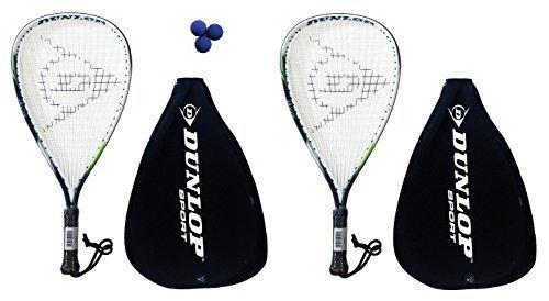 2 x Dunlop Biotec Titanium Racketball Rackets + 3 Balls