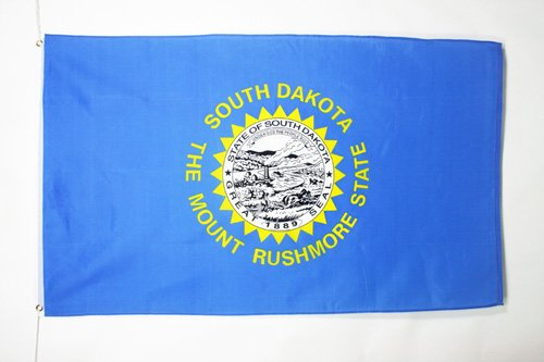 SOUTH DAKOTA FLAG 3' x 5' - US STATE OF DAKOTA DU SUD FLAGS 90 x 150 cm - BANNER 3x5 ft - AZ FLAG