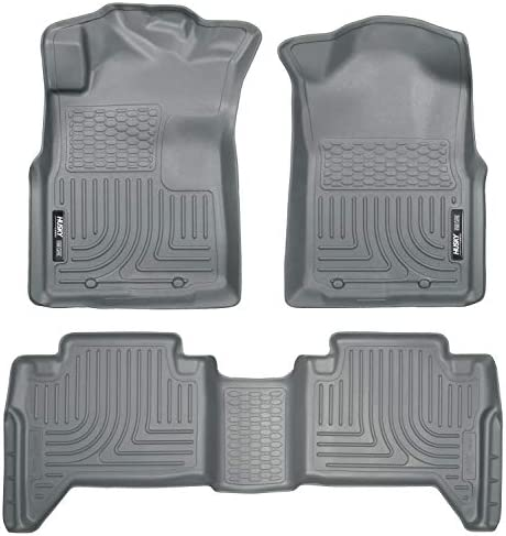 Husky Liners – 98952 Fits 2005-15 Toyota Tacoma Double Cab Weatherbeater Front & 2nd Seat Floor Mats (Footwell Coverage),Grey