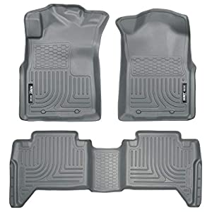 Husky Liners – 98952 Fits 2005-15 Toyota Tacoma Double Cab Weatherbeater Front & 2nd Seat Floor Mats (Footwell Coverage…