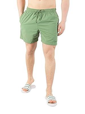 Calvin Klein Men's Medium Drawstring Swim Shorts, Green