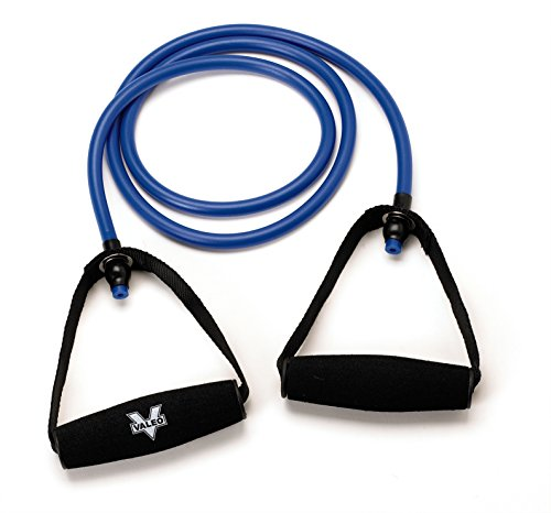 Minerals Teachers Guide - Valeo 4-Foot Heavy Resistance Tube With Cushion Foam Handles And Exercises Included To Improve Balance, Coordination, Flexibility, and Strength, VA4518BL