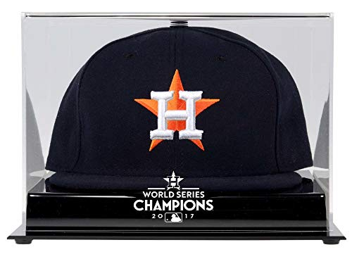 Hat Mlb Display Cases (Sports Memorabilia Houston Astros 2017 MLB World Series Champions Acrylic Logo Cap Display Case - Baseball Hat Logo Display Cases)
