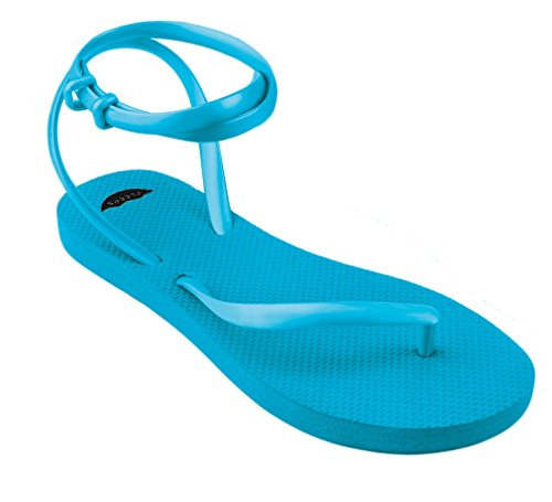 Insanely With Women Sandal Blue Flip Comfortable s FLEEPS Flip Gladiator Style Wedding Summer Sandals Flops Strap In Handmade Beach Rica or Perfect Sandals Costa Aquamarine Sandals Ankle Flops wXBnIqBzd