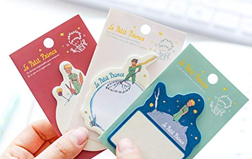 6 pcs/lot Creative Le Petit Prince Sticky Notes Cute Cartoon Paper Memo Pad Post Sticker School Office Stationery Supplies ()