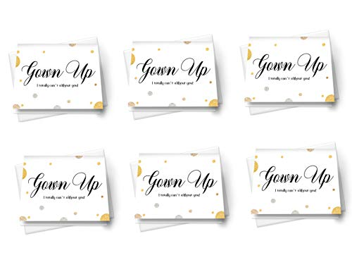 (Gown Up Bridesmaid Cards (6 Pack) Will You Be My Maid of Honor Wedding Party)