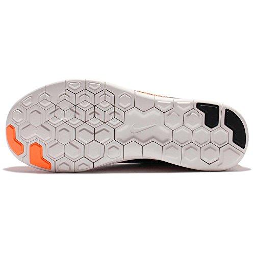 Nike Heren Vrije Rn Afstand Hardloopschoen (7 D (m) Ons, Wolfsgrauw, Woede Groen, Oranje Atoom)