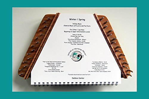 World of Harmony Music; Winter / Spring ~ Educational Book of Beginning to Upper Intermediate Level Classical, Holiday, and Folk Music Sheets for Zither with Educational Lyrics and Composer Lessons