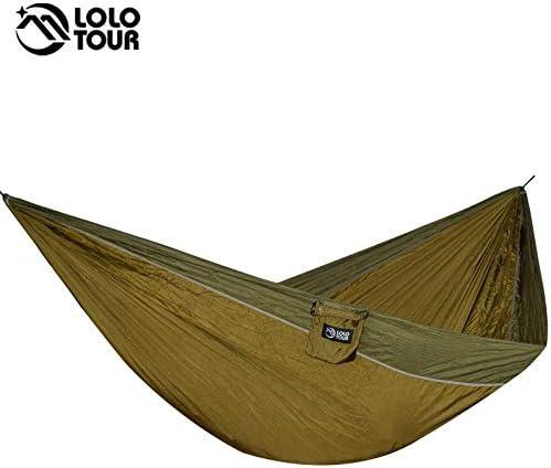 Bureze - Hamaca de Supervivencia para 2 Personas, 300 x 175 cm, para jardín, paracaídas, Hamaca, Doble Caravana, 118 x 68 cm: Amazon.es: Hogar
