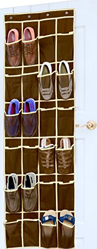 SimpleHouseware Pockets Hanging Organizer Brown