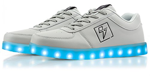 Electric Styles Light Up Shoes - Bolt Low Top Grey smcGCxRCS