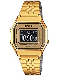 6d077b40213 Relógio Feminino Digital Casio Vintage LA680WGA-9BDF - Dourado