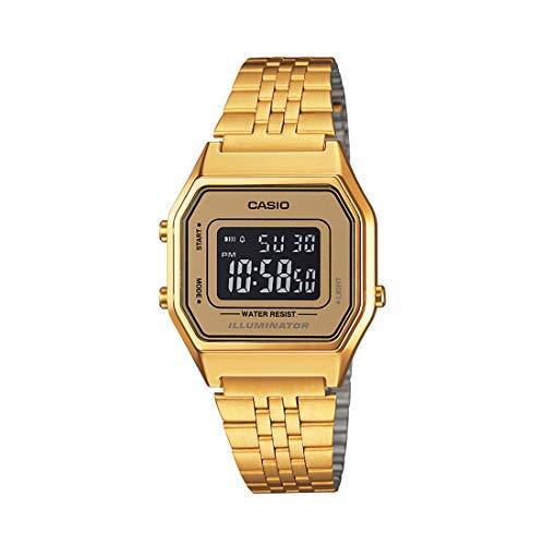 Casio LA-680WGA-9B-Clock with Quartz Movement, for Women, Gold Colour (Gold Vintage Watch Casio Women)