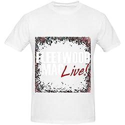 Fleetwood Mac Live Tour Jazz Men O Neck Digital Printed Tee Shirts White