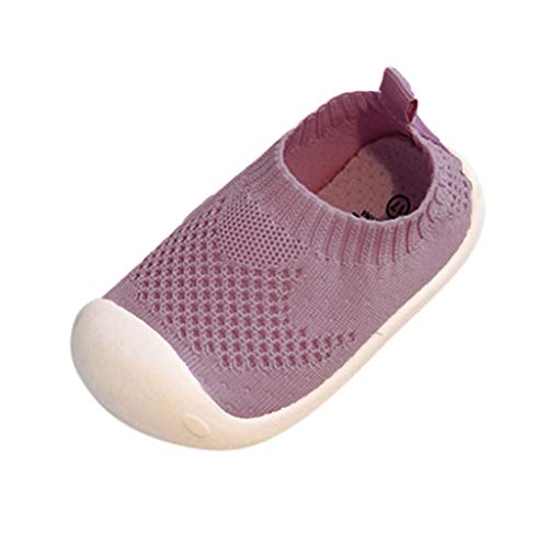 Toddler Infant Kids Baby Boys Girls Breathable Mesh Running Sneakers Sandals Woven Sports Stretch Casual Shoes Pink