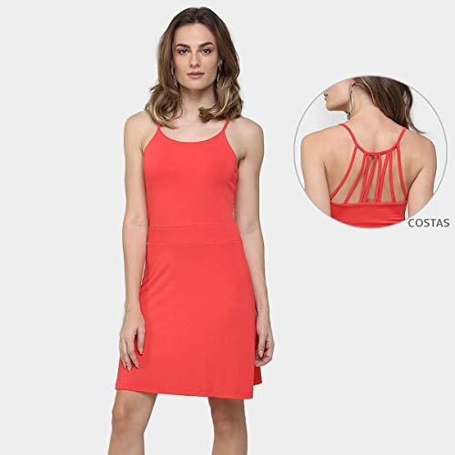 Vestido La Gata Evasê Tiras Costas - Vermelho - G