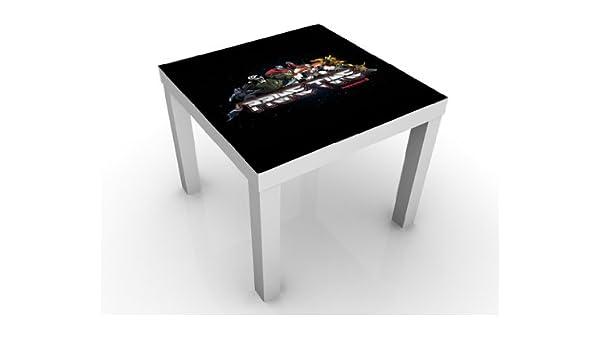 Diseño de la mesa de Transformers - Optimus Prime y su equipo de 55 x 45 x 55 cm mesa auxiliar, mesa de café, diseño de bandera de-Lámpara de mesa, de pared