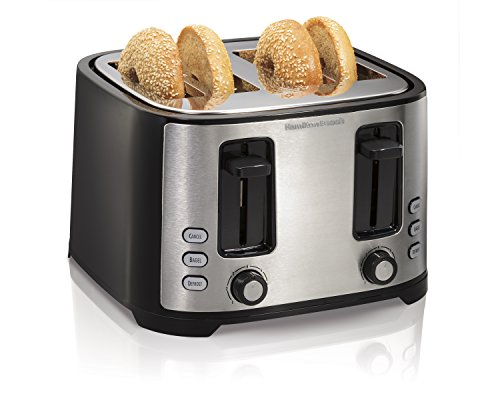 Hamilton Beach Extra-Wide 4-Slice Slot Toaster, Black (24633) (Four Slot)
