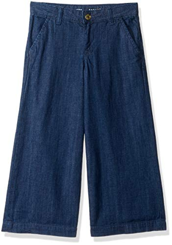 - Gymboree Girls' Big Culotte Pants, Denim wash, 8