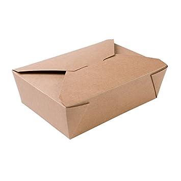 BIOZOYG 180x Caja para Llevar | Caja de cartón | cartón Kraft marrón | 1500ml,