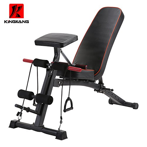 KiNGKANG K Adjustable Utility Bench sit Up Bench Foldable Fitness Training Weight Bench – DiZiSports Store