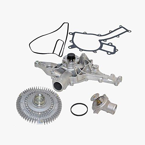 Mercedes Water Pump Fan Clutch Thermostat Kit Premium 1122001501 / 1122000122 / 1122030275 (3pcs)