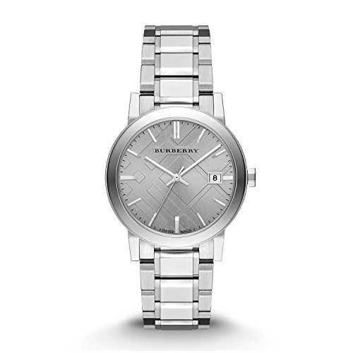 Burberry Small Check Stamped Bracelet Watch BU9035
